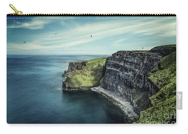 Kremsdorf Carry-all Pouch featuring the photograph Cliffside by Evelina Kremsdorf
