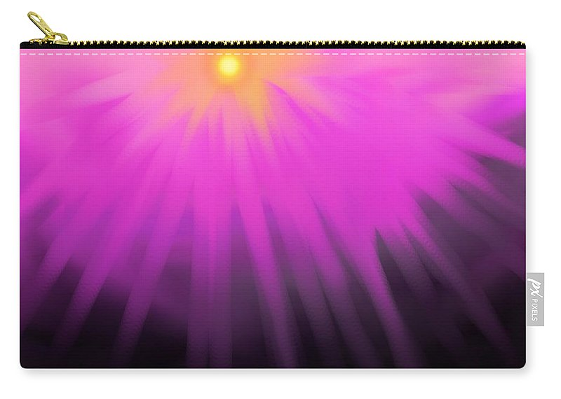 Sun Carry-all Pouch featuring the digital art Climbing Over The Mountain by Ian MacDonald