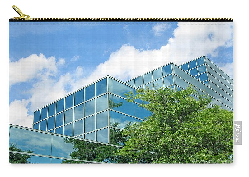 Architecture Carry-all Pouch featuring the photograph Climbing Skyward by Ann Horn