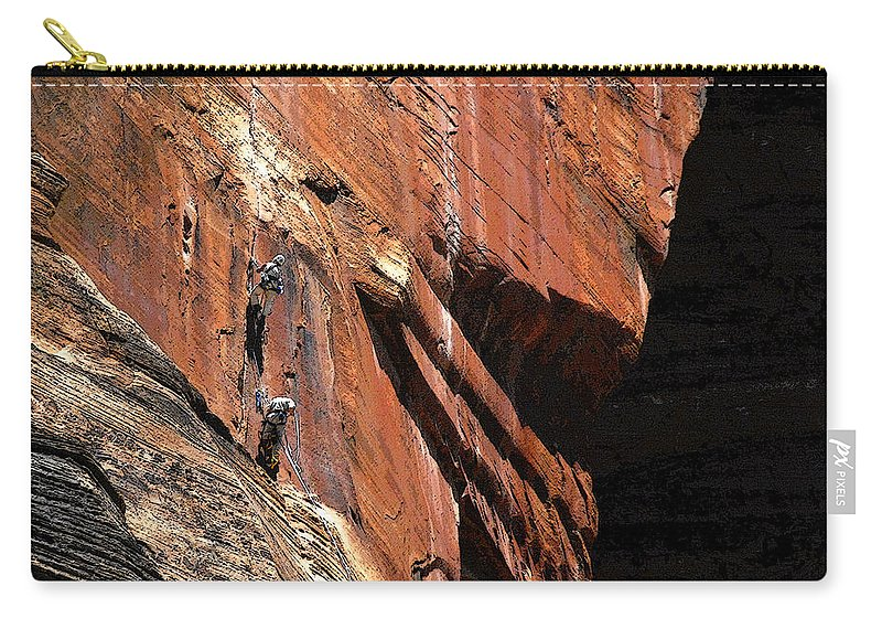 Art Carry-all Pouch featuring the painting Climbing The Great Arch by David Lee Thompson