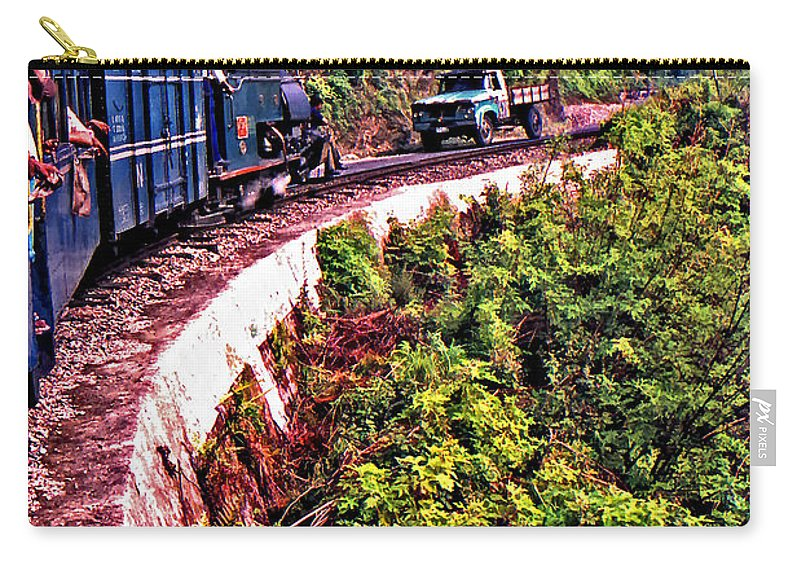 Toy Train Carry-all Pouch featuring the photograph Climbing The Himalayas by Steve Harrington