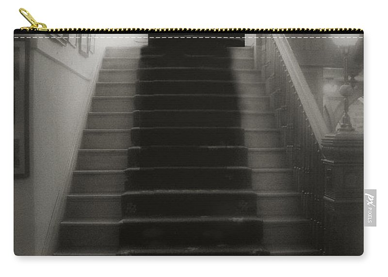 Black And White Carry-all Pouch featuring the photograph Climbing Toward The Unknown by RC DeWinter
