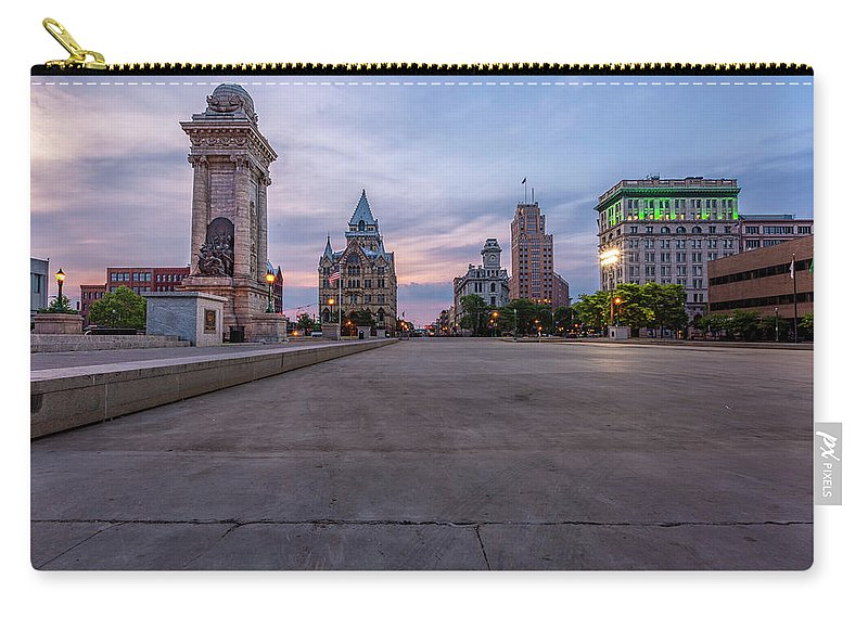 Clinton Square Carry-all Pouch featuring the photograph Clinton Square Sunrise by Scott Reyes