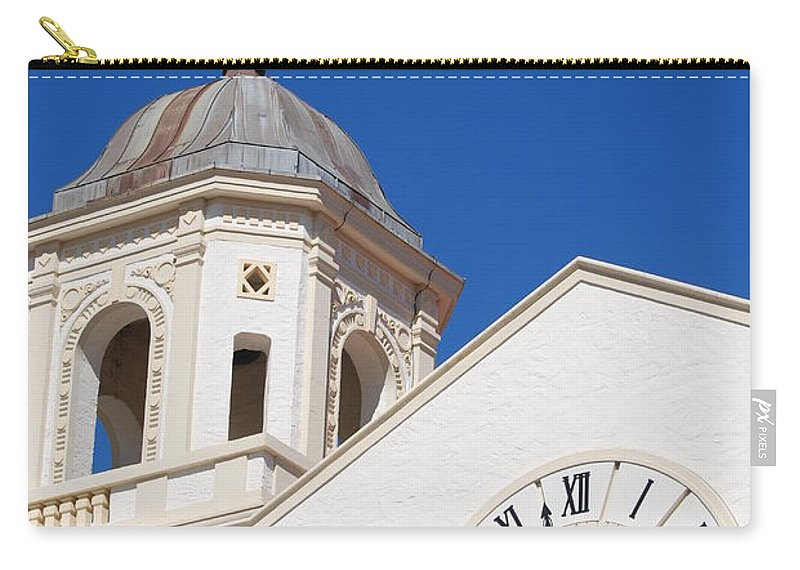 Clock Carry-all Pouch featuring the photograph Clock And Tower by Rob Hans