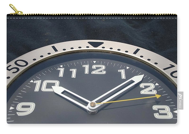 Clock Carry-all Pouch featuring the photograph Clock Face by Rob Hans