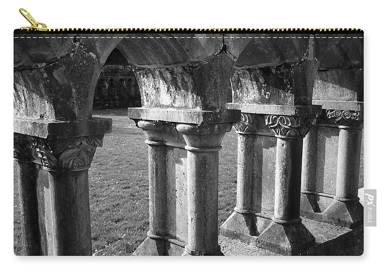 Irish Carry-all Pouch featuring the photograph Cloister At Cong Abbey Cong Ireland by Teresa Mucha