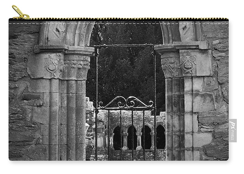 Irish Carry-all Pouch featuring the photograph Cloister View Cong Abbey Cong Ireland by Teresa Mucha