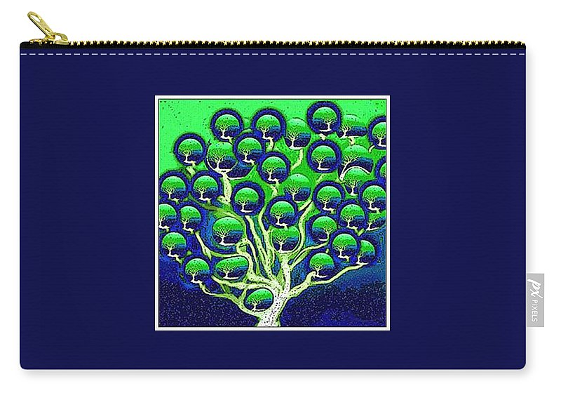 Digital Painting Carry-all Pouch featuring the digital art cloning of new Life by Ansgard Thomson