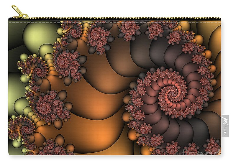 Fractal Carry-all Pouch featuring the digital art Close To The Earth by Jutta Maria Pusl