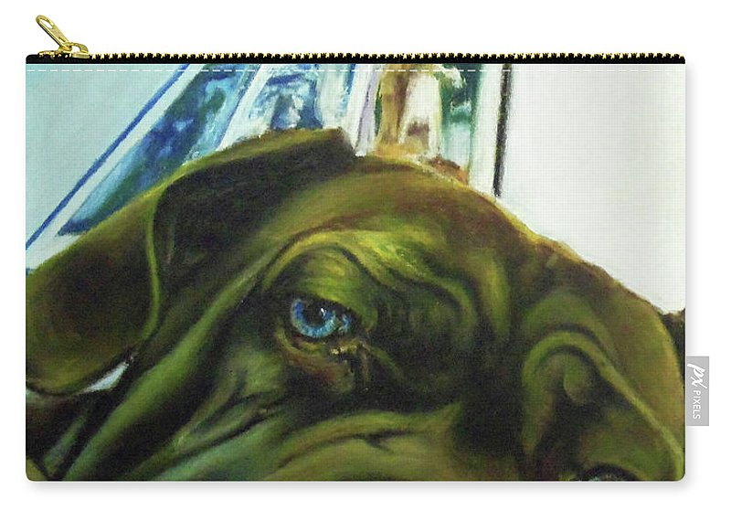 Pastel Dog Carry-all Pouch featuring the painting Close Up by Noel Cole