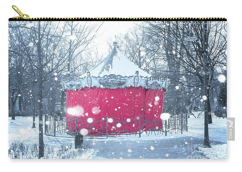 Wroclaw Carry-all Pouch featuring the photograph Closed For Winter by Juli Scalzi