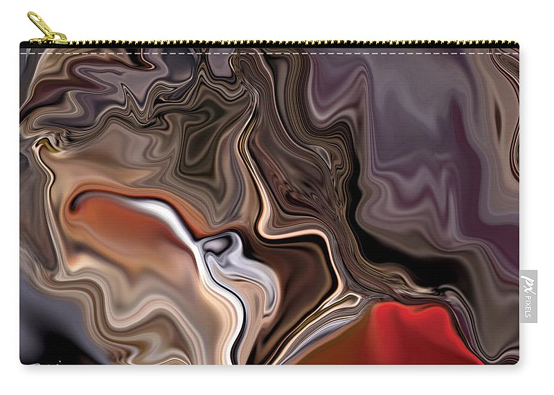 Abstract Carry-all Pouch featuring the digital art Closer by Rabi Khan