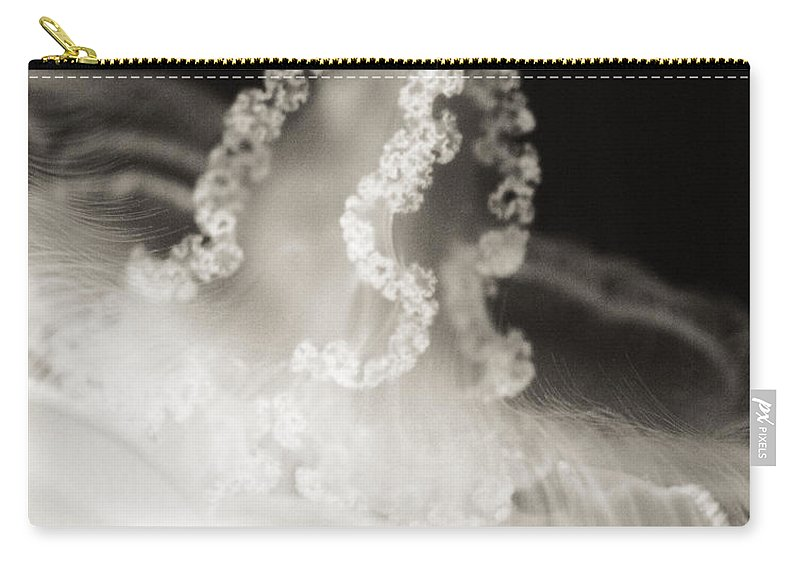 Sea Carry-all Pouch featuring the photograph Closeup Jellyfish by Marilyn Hunt
