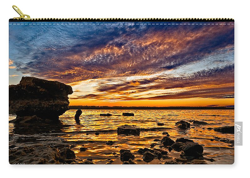 Sunset Carry-all Pouch featuring the photograph Closing Colors by Christopher Holmes