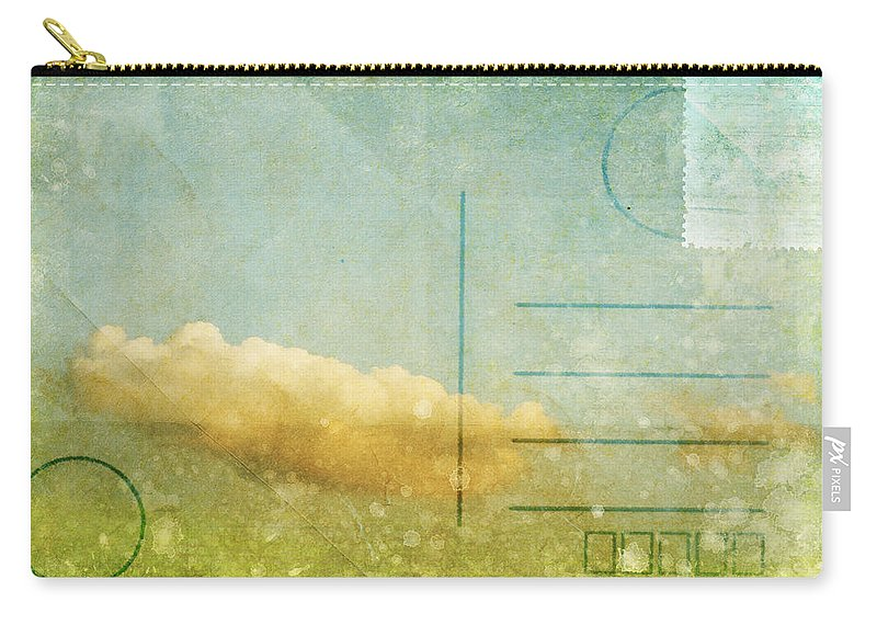Address Carry-all Pouch featuring the photograph Cloud And Sky On Postcard by Setsiri Silapasuwanchai