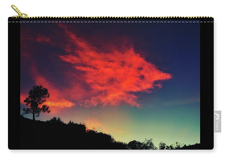 Los Angeles Carry-all Pouch featuring the photograph Cloud And Tree by Braden Moran
