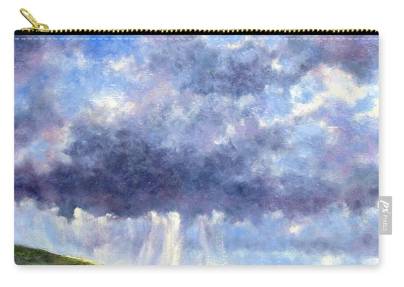 Oil Painting Carry-all Pouch featuring the painting Cloud Burst Ireland by Jim Gola