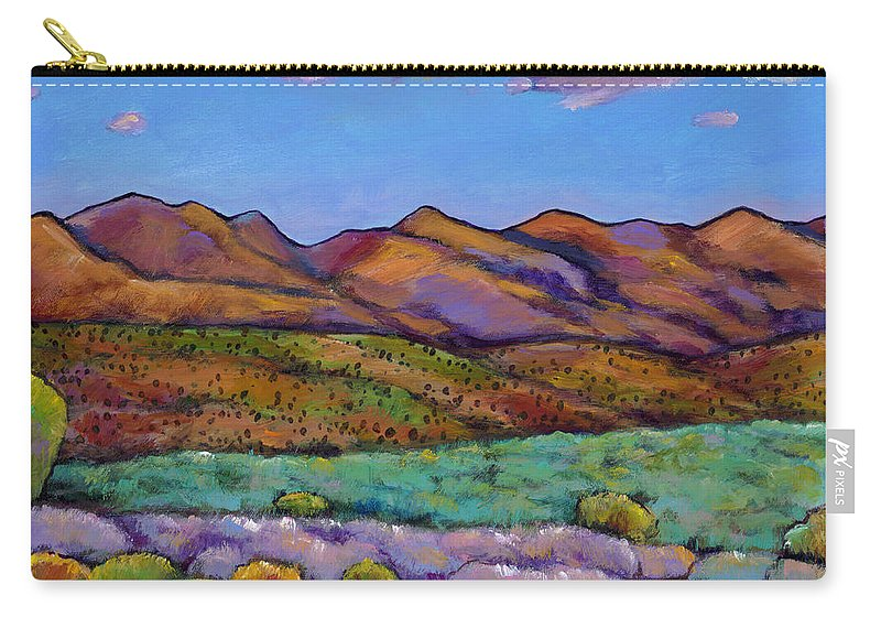 Southwest Landscape Carry-all Pouch featuring the painting Cloud Cover by Johnathan Harris