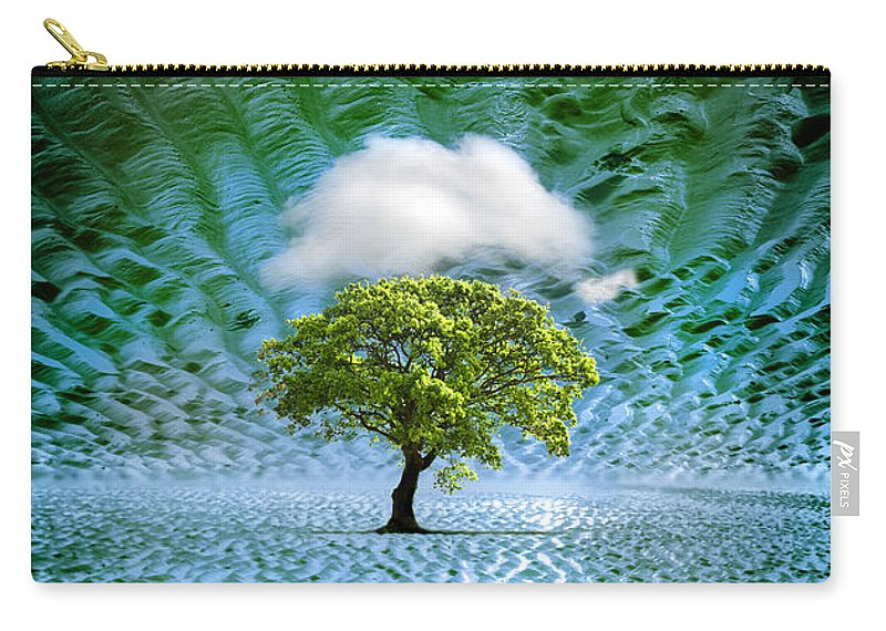 Cloud Carry-all Pouch featuring the photograph Cloud Cover Recurring by Mal Bray