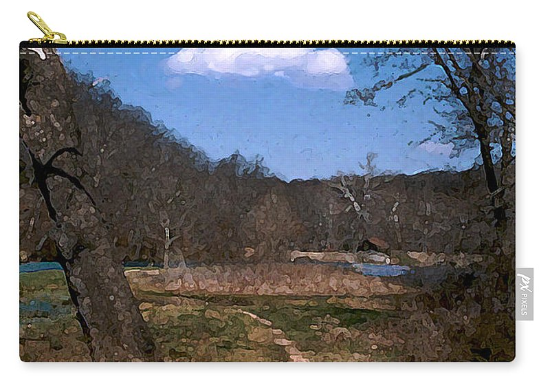 Landscape Carry-all Pouch featuring the photograph Cloud Destination by Steve Karol