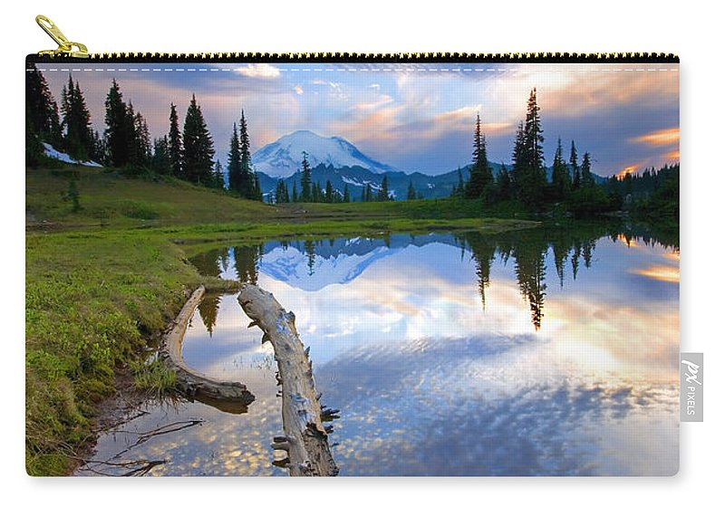 Landscape Carry-all Pouch featuring the photograph Cloud Explosion by Mike Dawson