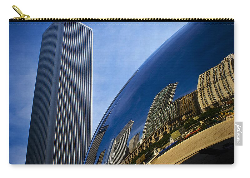 Chicago Carry-all Pouch featuring the photograph Cloud Gate And Aon Center by Roger Passman