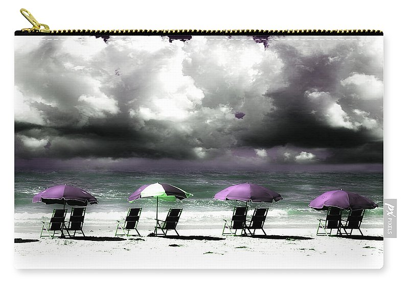 Beach Carry-all Pouch featuring the photograph Cloud Illusions by Mal Bray
