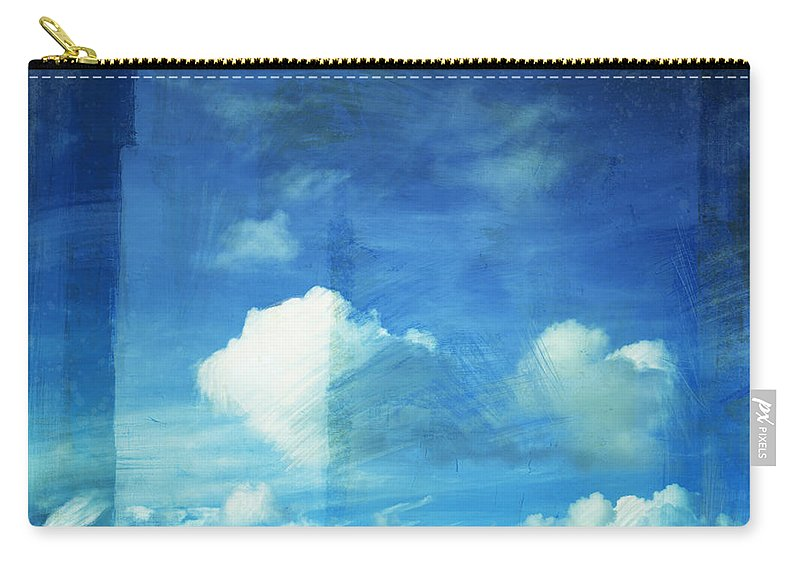 Abstract Carry-all Pouch featuring the painting Cloud Painting by Setsiri Silapasuwanchai