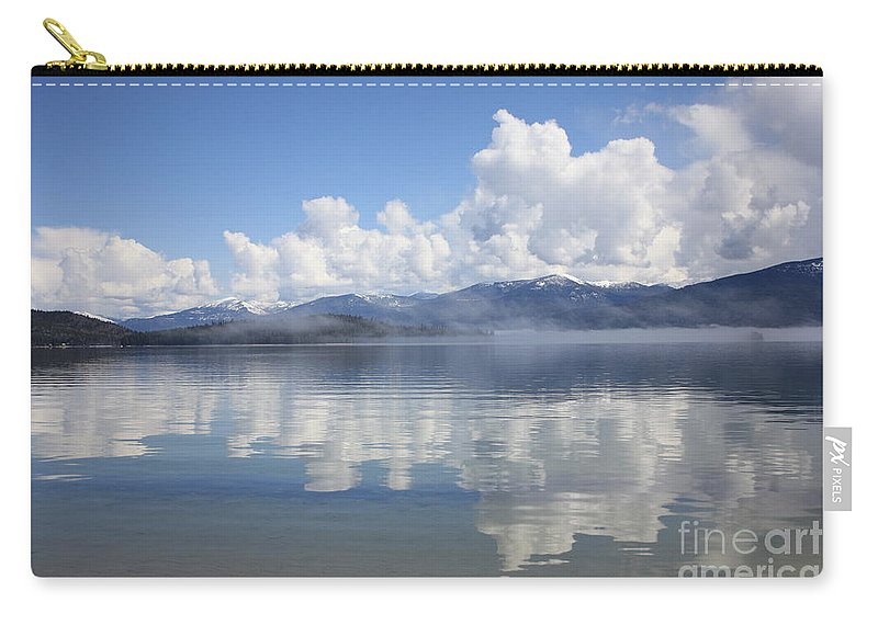 Clouds Carry-all Pouch featuring the photograph Cloud Reflection On Priest Lake by Carol Groenen