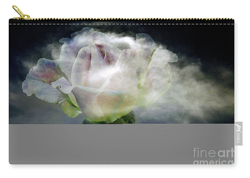 Clay Carry-all Pouch featuring the photograph Cloud Rose by Clayton Bruster