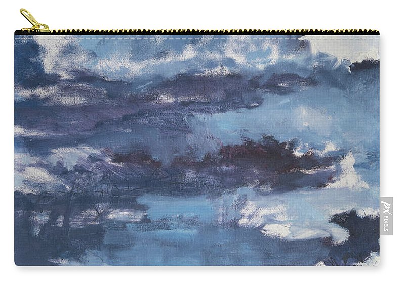 Clouds Carry-all Pouch featuring the painting Cloud Study by Craig Newland