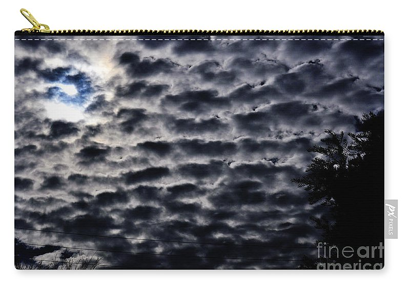Clay Carry-all Pouch featuring the photograph Cloud Tiles by Clayton Bruster
