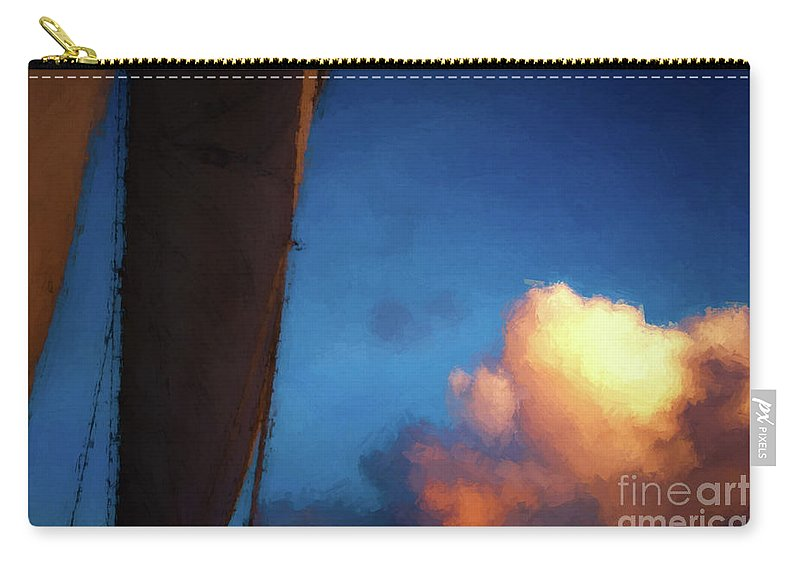 Sails Carry-all Pouch featuring the photograph Clouds And Sails by Doug Sturgess