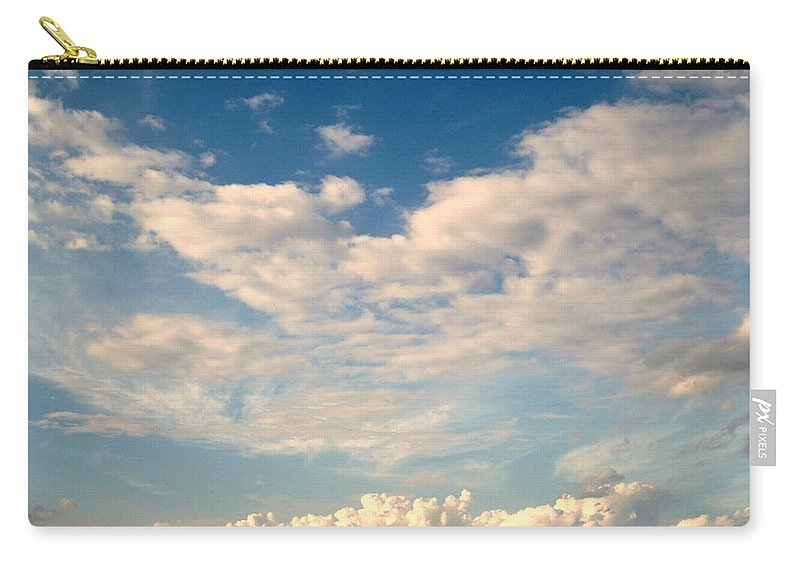 Cotton Balls Carry-all Pouch featuring the photograph Clouds Clouds Clouds by Susanne Van Hulst