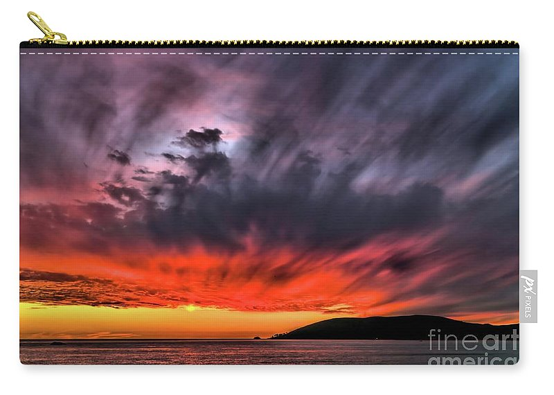 Storm Clouds Carry-all Pouch featuring the photograph Clouds In Motion Before The Storm by Vivian Krug Cotton