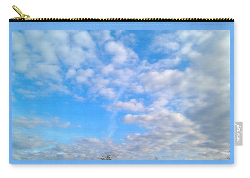 Blue Sky Carry-all Pouch featuring the photograph Clouds by Kimberly Watt