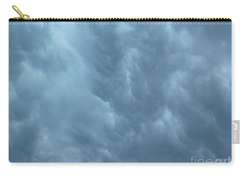 Clouds Carry-all Pouch featuring the photograph Clouds Like The Sea by Deborah Crew-Johnson