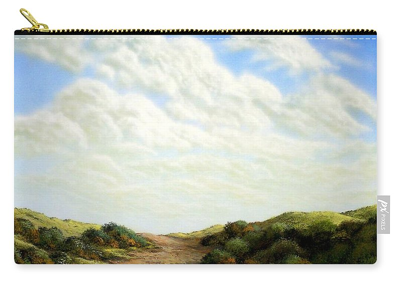 Landscape Carry-all Pouch featuring the painting Clouds Of Spring by Frank Wilson