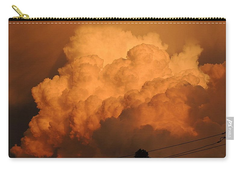 Clouds Carry-all Pouch featuring the photograph Clouds On Fire by Cindy Freeman