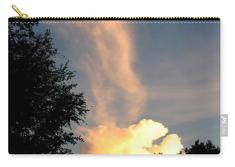 Landscape Carry-all Pouch featuring the photograph Clouds On Fire by Todd Blanchard