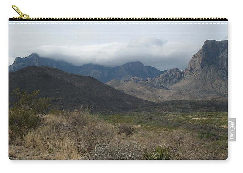 Big Bend National Park Carry-all Pouch featuring the photograph Clouds Over Big Bend by Sally Jones