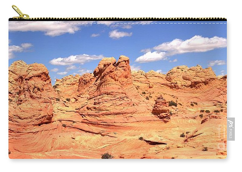 Vermilion Cliffs Panorama Carry-all Pouch featuring the photograph Clouds Over Candyland by Adam Jewell