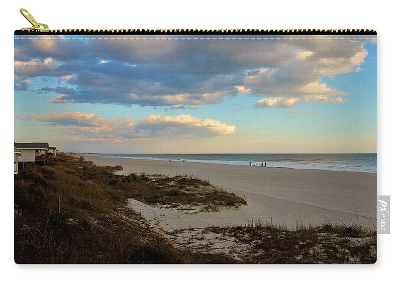 Holden Beach Carry-all Pouch featuring the photograph Clouds Over Holden Beach by Cynthia Guinn