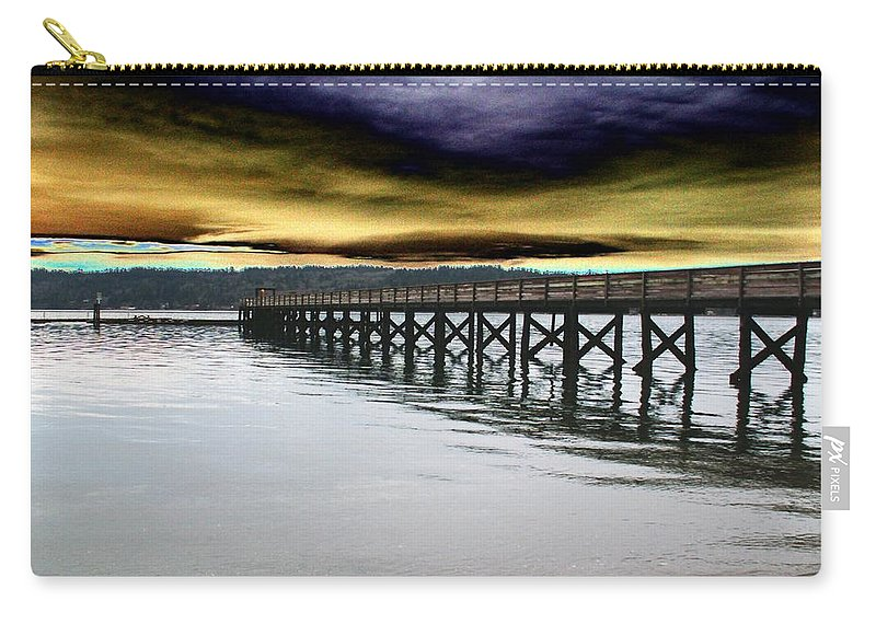 Clouds Carry-all Pouch featuring the photograph Clouds Over Illahee by Tim Allen