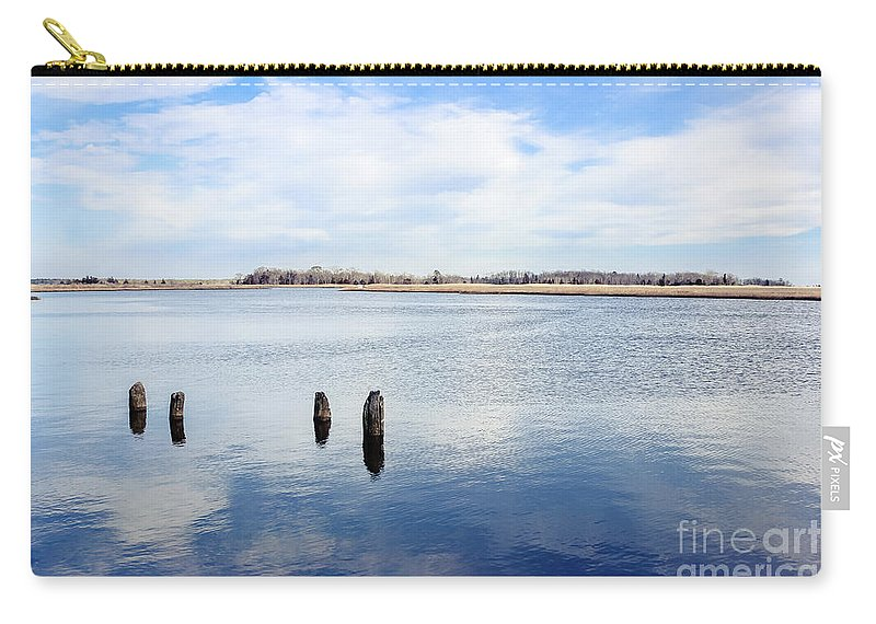 Mullica River Carry-all Pouch featuring the photograph Clouds Over The Mullica River by Colleen Kammerer