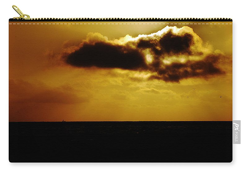 Clay Carry-all Pouch featuring the photograph Clouds Over The Ocean by Clayton Bruster