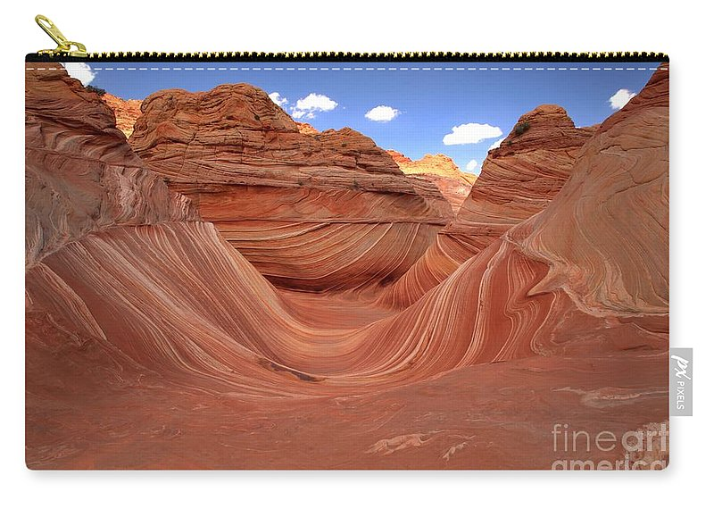 The Wave Carry-all Pouch featuring the photograph Clouds Over The Wave by Adam Jewell