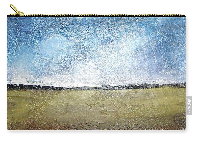 Clouds Carry-all Pouch featuring the painting Flying Clouds by Vesna Antic