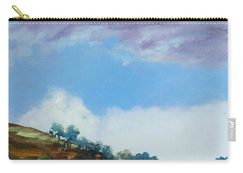 Sky Carry-all Pouch featuring the painting Clouds by Rick Nederlof