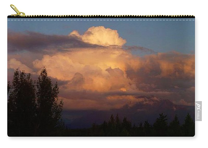 Clouds Carry-all Pouch featuring the photograph Clouds by Ron Bissett
